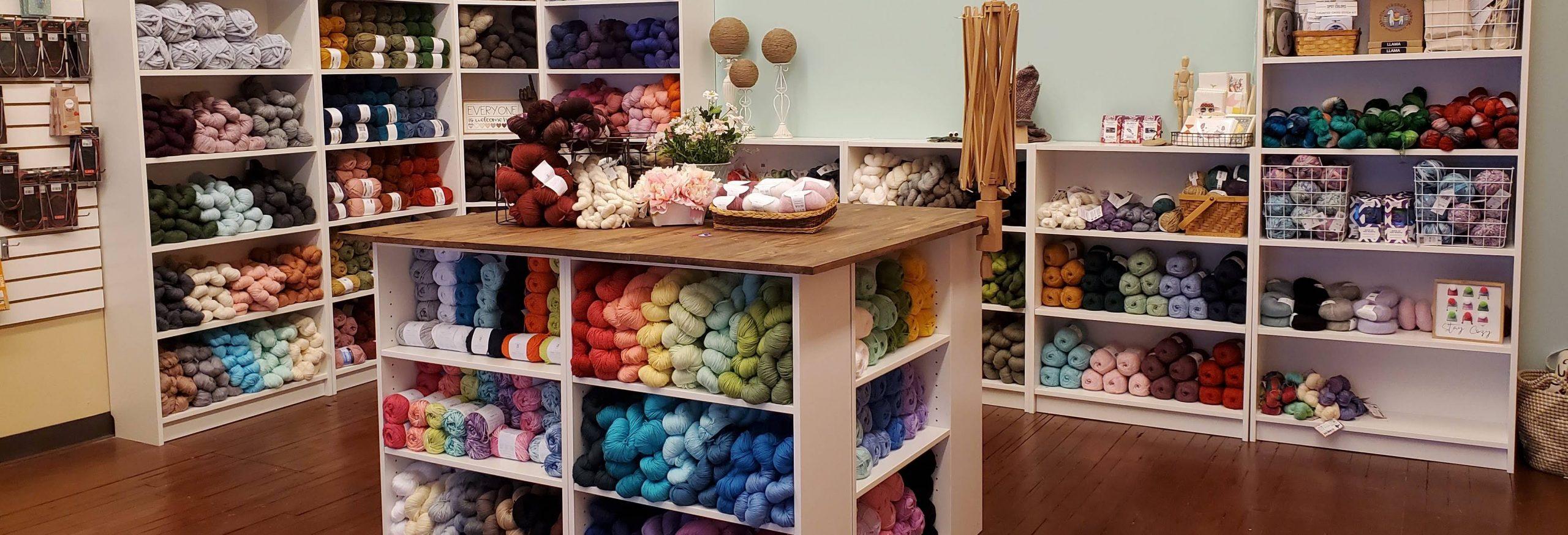 Image of inside of yarn shop