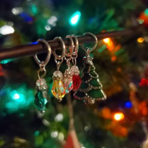 Christmas themed stitch markers