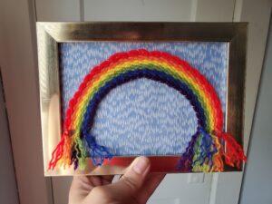 Rain & Rainbows Woven Art